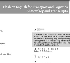 Flash on English for Transport and Logistics Answer Key and Transcripts