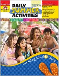Daily Summer Activities Moving from 3rd to 4th Grade