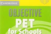 Cambridge Objective PET For School Practice Test Booklet Audio