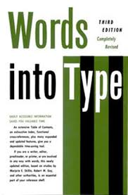 Words Into Type 3rd Edition