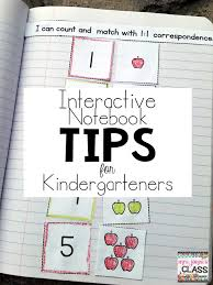 Interactive Notebooks Tips for Kindergarteners