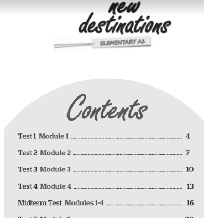 New Destinations Elementary A1 Tests