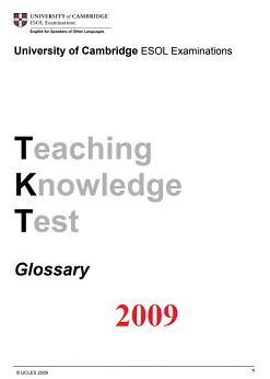 TKT Glossary 2009